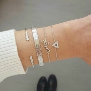 'Love' 4 Piece Bangle Bracelet Set